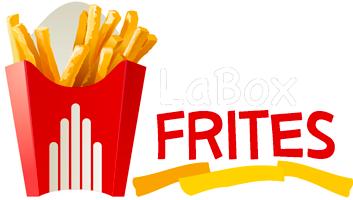 logo La Box Frites Blanc